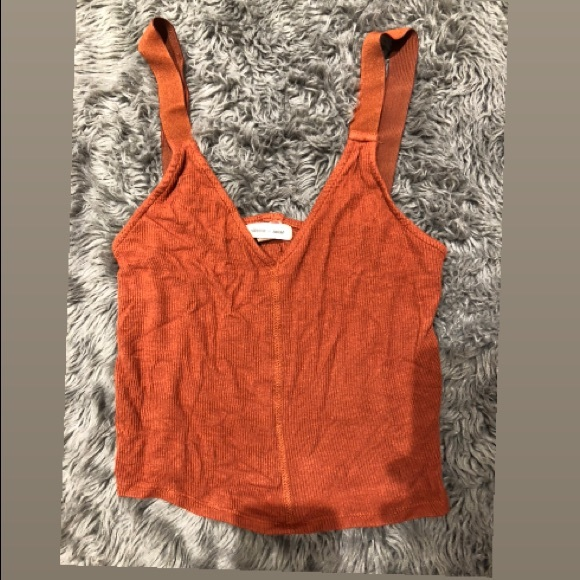 silence + noise Tops - Silence + noise (burnt orange color) tank top
